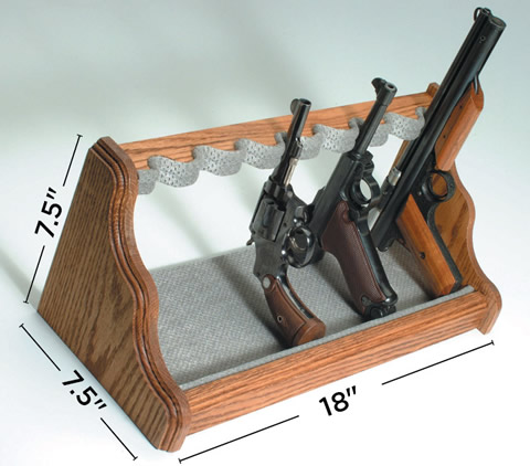 Oak Pistol Rack Dimensions