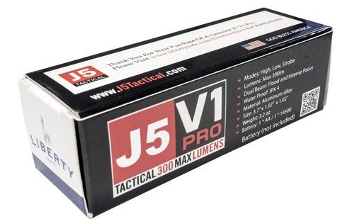 Tactical J5 V1-Pro Flashlight Package