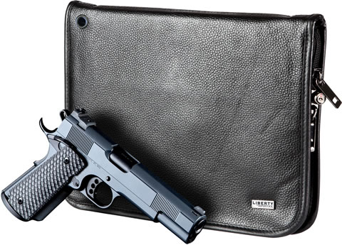 Full Size Leather Magnetic Handgun Case