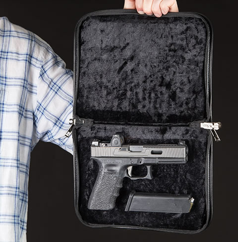 Magnetic Locking Handgun Case