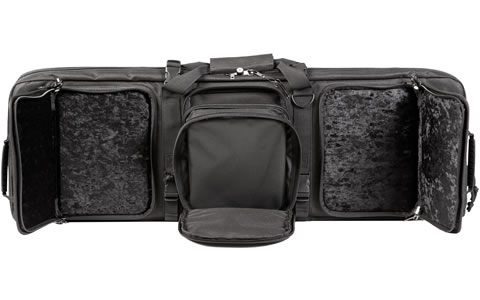 Rifle Bag With Handgun Cases Open